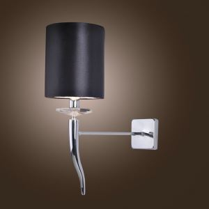 Modern 1 Light Wall Light with Shade Chrome Finished