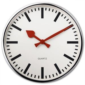 Stylish Scale Wall Clock in Stainless Steel