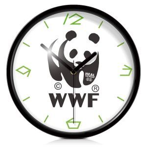 Panda Metal Wall Clock