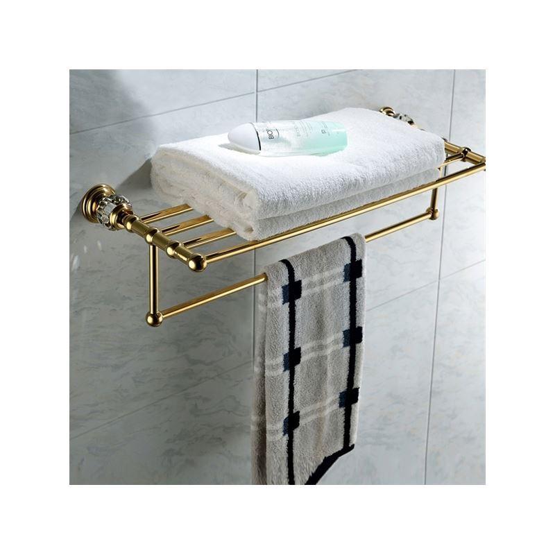 bathroom towel bars antique golden double layer towel