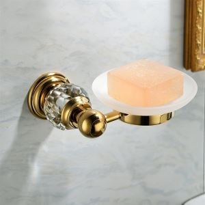 Contemporary Golden Round Soap Dish Holder Copper & Atomizing Cup Soap Holder