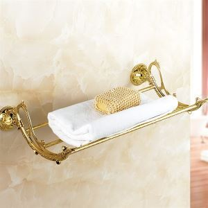 Ti-PVD Finish Antique Solid Brass Towel Bar