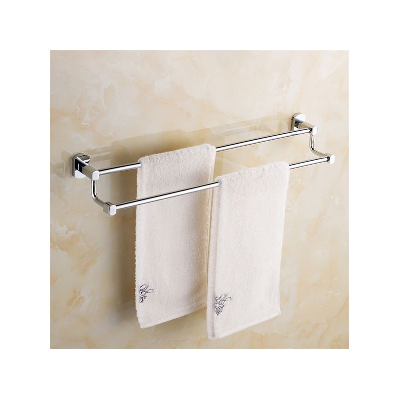 Bathroom Towel Bars Chrome Finish Contemporary Solid