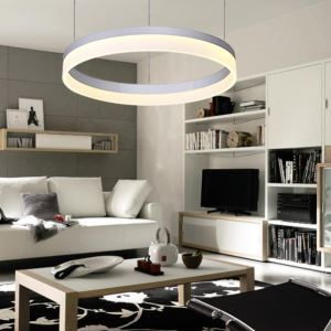 Modern Simple LED Pendant Light Acrylic Shade 1 Tier