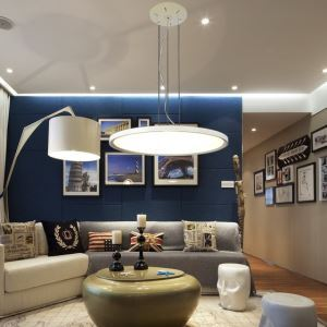 Modern Simple LED Pendant Light Acrylic light LED Circular DropLight
