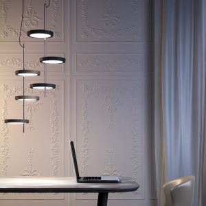 Modern Simple LED Pendant Light Mini Acrylic Droplight 3 Tiers Shade