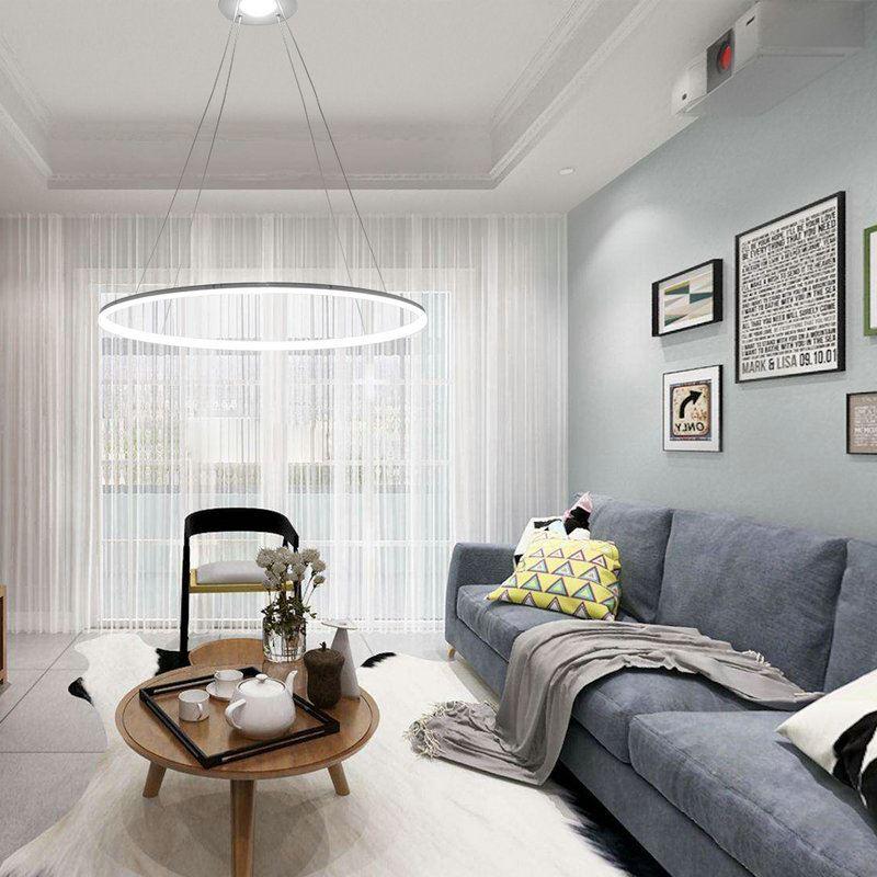 ... (In Stock) Ceiling Lights Modern LED Acrylic Pendant Light Living LED  Ring Lights 60CM ... Part 66