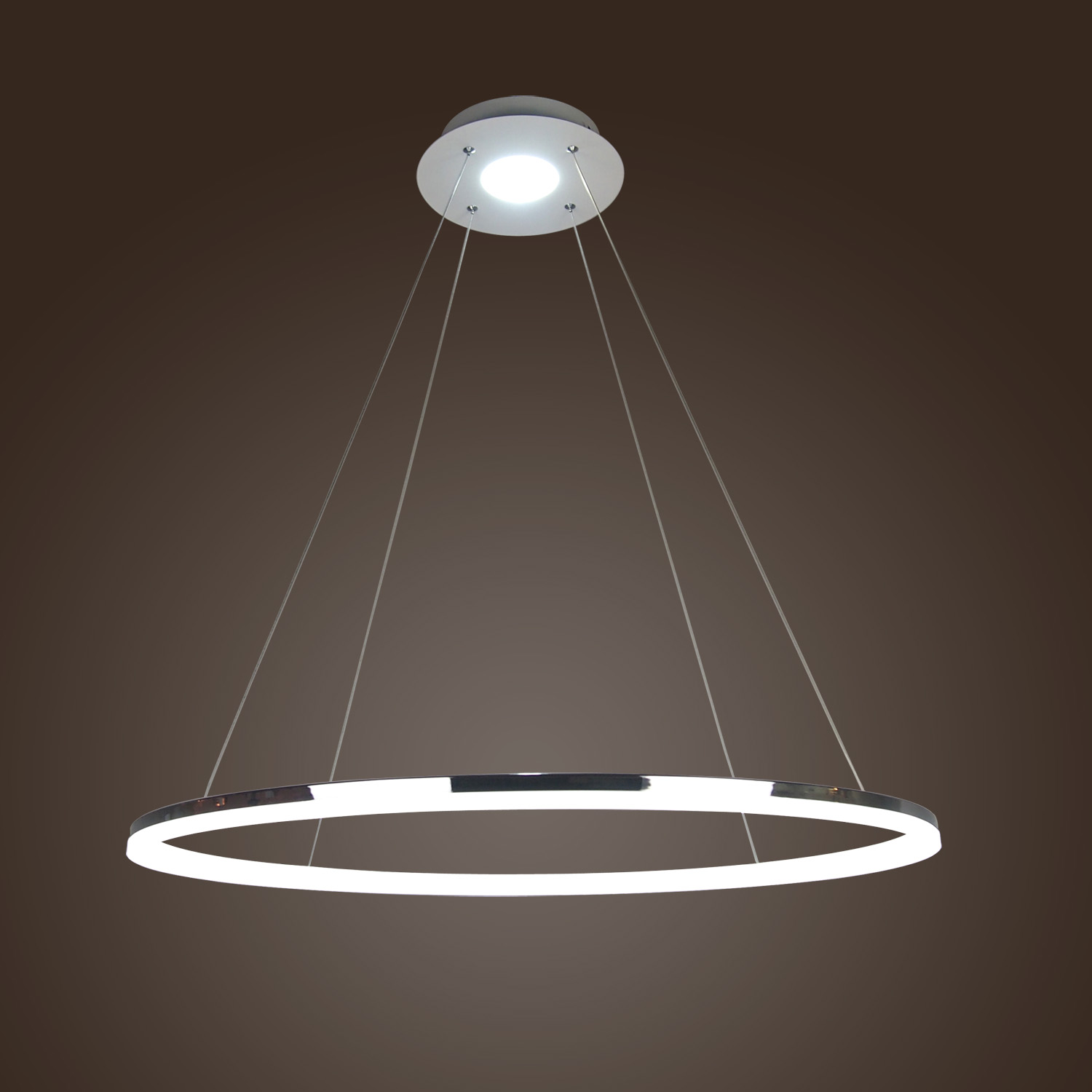 Modern Led Acrylic Pendant Light Living Led Ring Lights