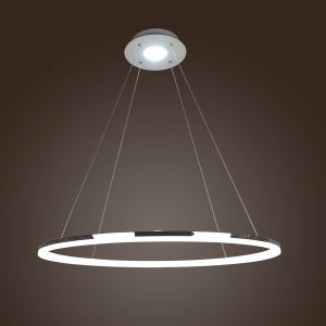 (In Stock) Modern LED Acrylic Pendant Light  Living LED Ring lights Ceiling Lights 60/80CM(Angel's Halo)