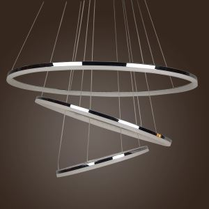 (In Stock) Modern LED Acrylic Pendant Light Simple Design Mini Droplight LED 3 Tiers(80+60+40cm)