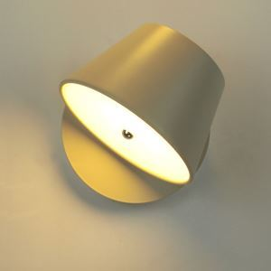 Modern Acrylic Wrought Iron Wall Light Rotating Acrylic Shade