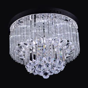 12 Lights Modern Simple Fashion Chrome Round Crystal Ceiling Light
