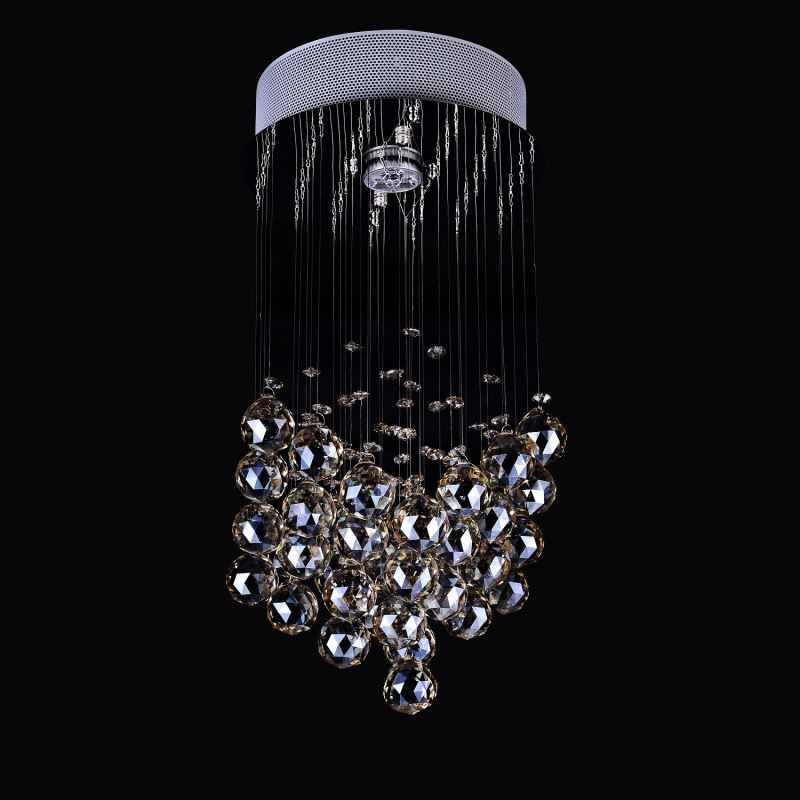 1 Light Modern Simple Fashion Chrome Round Crystal Ceiling Light