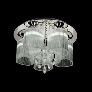 2 Lights Modern Simple Fashion  Chrome Round Crystal Ceiling Light