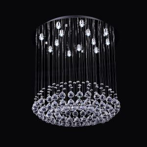 13 Lights Modern Simple Fashion  Chrome Round Crystal Ceiling Light