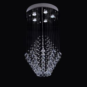 5 Lights Modern Simple Fashion  Chrome Round Crystal Ceiling Light