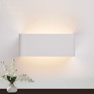 2 Lights Modern Simple Fashion LED Square Wall Light Frosted-White