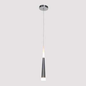 1 Light Modern Simple Fashion LED Round Acrylic Pendant Light Silver