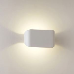 2 Lights Modern Simple Sconce Fashion LED Wall Light Flat White Energy Saving