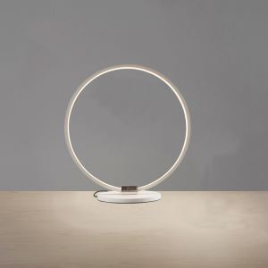 1 Light Modern Simple Fashion LED Round Acrylic Table Lamp Flat White