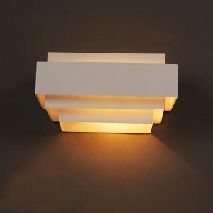 Contemporary Simple Wall Light Wrought Iron Stoving Varnishing Craftsmanship Wall Light 1 Light White