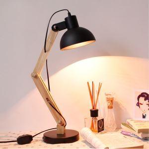 Contemporary Simple Stoving Varnishing Craftsmanship Table Lamp 1 Light Black White