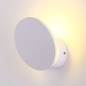 Contemporary Simple LED Wrought Iron Stoving Varnishing Craftsmanship Wall Light 1 Light White Energy Saving