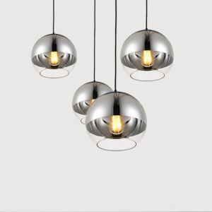 Contemporary Simple Wrought Iron Electroplated Craftsmanship Glass Pendant Light 1 Light Smoky Gray