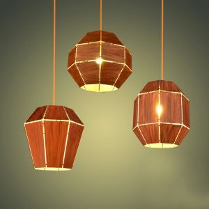 Contemporary Simple Wrought Iron Spray-painted Craftsmanship Pendant Light Three Designs 1 Light
