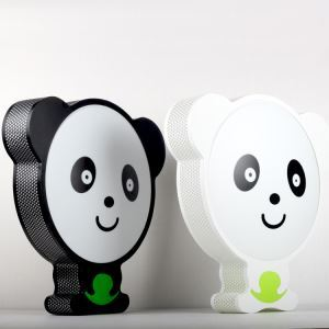Contemporary Simple LED Panda Wrought Iron Spray-painted Craftsmanship Flush Mounted Ceiling Light