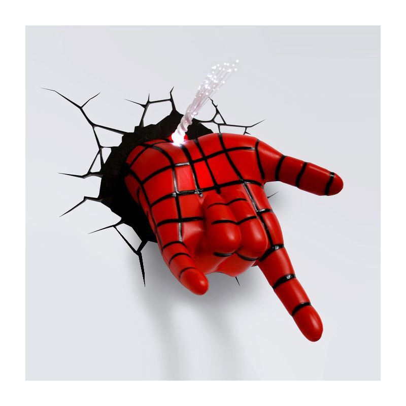 Marvel 3D Wall Nightlight - Spiderman Hand