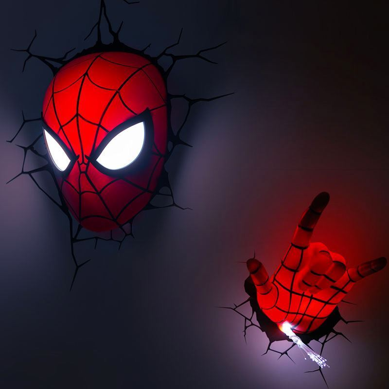 Cool Wall Lights lighting - wall lights - marvel 3d wall nightlight - spiderman hand