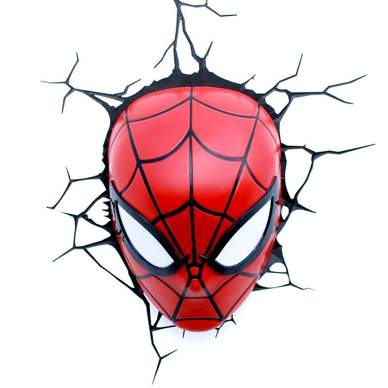 Contemporary Simple Fashion LED 3D Creative Spider Man Wall Light