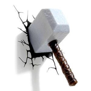 Contemporary Simple Fashion LED 3D Creative Sledgehammer Wall Light