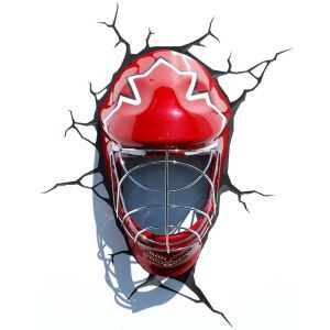Contemporary Simple Fashion LED 3D Creative Ice Hockey Mask Wall Light