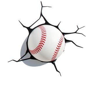 Contemporary Simple Fashion LED 3D Creative Baseball Wall Light