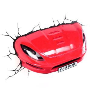 Contemporary Simple Fashion LED 3D Creative Red Sport Car Wall Light