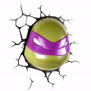 Contemporary Simple Fashion LED 3D Creative Teenage Mutant Ninja Turtles DONATELLO Wall Light
