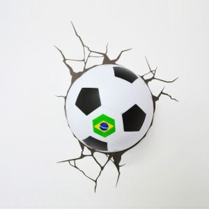 Contemporary Simple Fashion LED 3D World Cup Brazil Football Wall Light