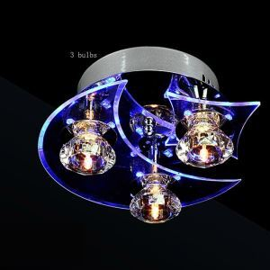 Modern Simple Fashion Round Crystal Flush Mount Ceiling Light