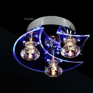 Modern Simple Fashion Round Crystal Flush Mount Ceiling Light