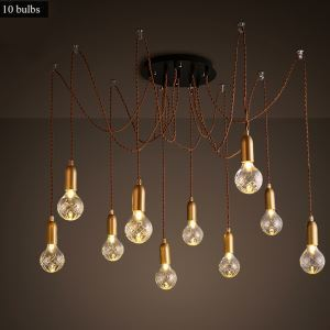 Modern Simple Fashion Wrought Iron Glass Pendant Light