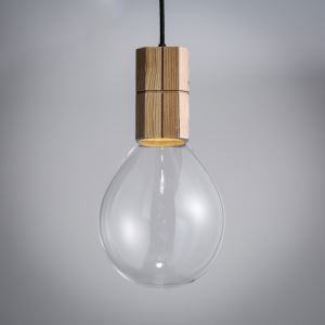 Modern Simple Fashion Wooden Transparent Glass Pendant Light 1 Light Dining Room Lighting Ideas Living Room Bedroom Lighting