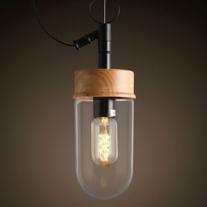 Modern Simple Fashion Transparent Glass Pendant Light 1 Light Dining Room Lighting Ideas Living Room Bedroom Lighting