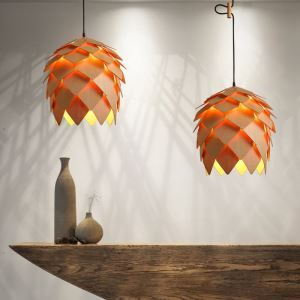 American Country Style Burlywood Wooden Pendant Light 1 Light