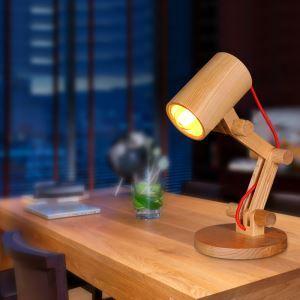 Modern Simple Fashion Burlywood Wooden Table Lamp 1 Light