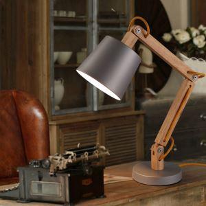 Modern Simple Fashion Metal Wood Table Lamp 1 Light
