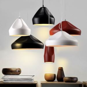 Modern Simple Fashion Wrought Iron Ceramic Pendant Light 3 Designs 1 Light