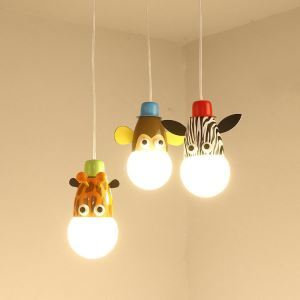 Modern Fashion Cartoon Little Animals Pendant Light 3 Lights