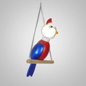 Modern Fashion Cartoon Woodpecker Wooden Pendant Light 1 Light